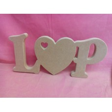 18mm  MDF  Freestanding Letters and Heart